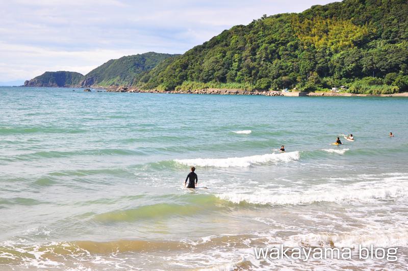 産湯海水浴場 サーフィン
